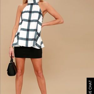 NEW White and black patterned TOP.